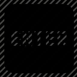 enter, sign icon