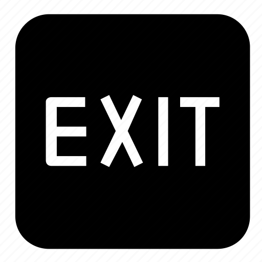 exit, sign icon
