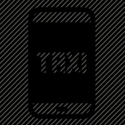 mobile, service, smartphone, taxi icon