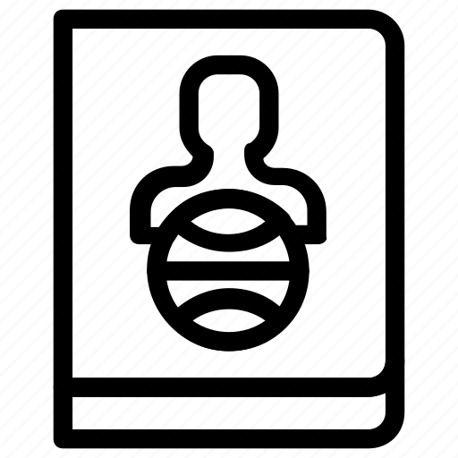 Identification, passport icon