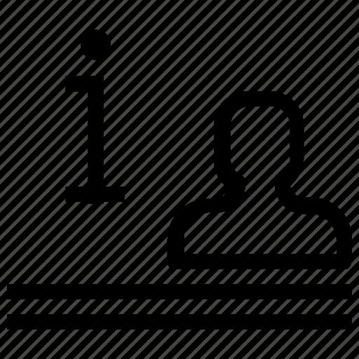 desk, information icon