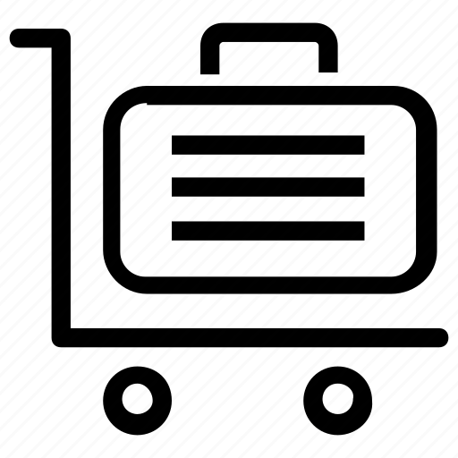 baggage, case, trolley icon