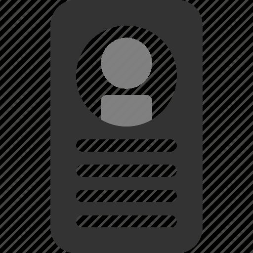 document, id, identification, identity, pass, passport icon
