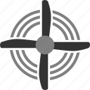 aviation, fan, propeller, turbine icon