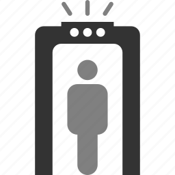 metal detector, scan, security icon