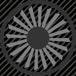 aviation, engine, turbine icon