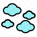 airplane, cloud, fly, sky, weather, wind icon
