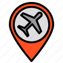air, direction, location, plane, position icon