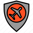 airplane, airport, best, good, protect, shield icon