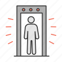 airport, control, detector, inspection, metal, scanner, security icon