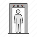 airport, check, control, detector, metal, scanner, security icon