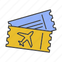 airline, airplane, boarding, flight, passenger, ticket, travel icon