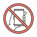 call, cellphone, forbidden, no, phone, smartphone, telephone icon