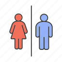 bathroom, female, male, public, restroom, toilet, wc