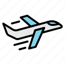 airport, flight, fly, plane, take off icon