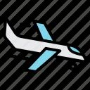 airport, departure, flight, landing, plane