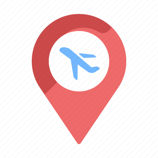 airplane, airport, check-in, destination, flight check-in, location, map icon