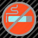 air, airplane, no, smoke, travel icon