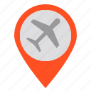 air, airplane, position, travel icon