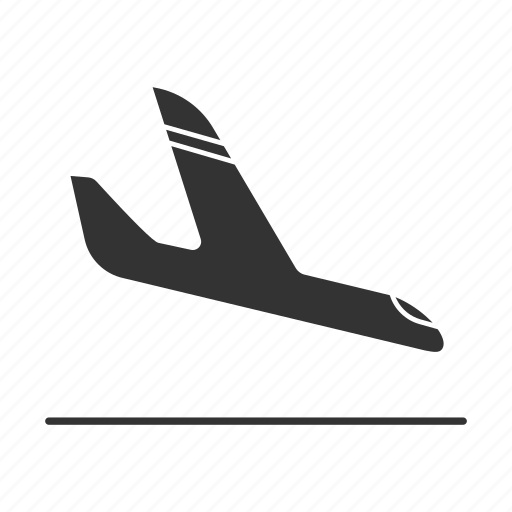 aircraft, airplane, arrival, flight, jet, landing, plane icon