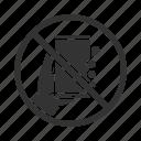 call, cellphone, forbidden, no, phone, smartphone, telephone icon