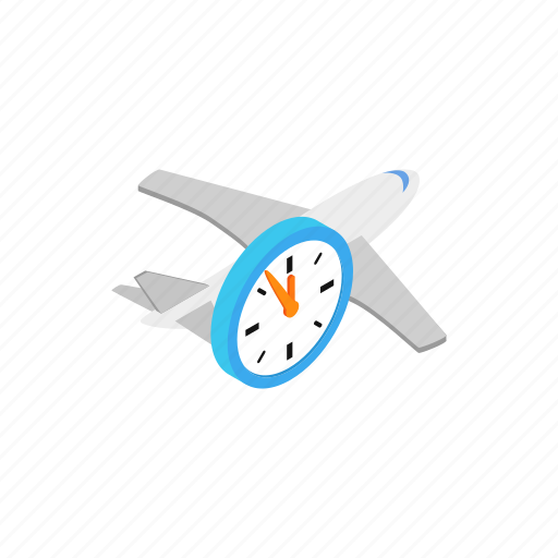 clock, domestic, duration, flight, hours, isometric, time icon
