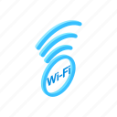internet, isometric, network, signal, wifi, wireless, zone icon