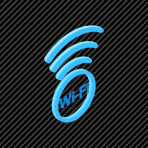 internet, isometric, network, signal, wifi, wireless, zone icon