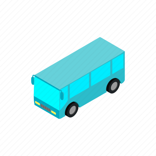 airport, bus, car, isometric, pickup, taxi, travel icon