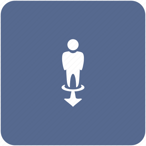 forward, man, motion, person, way icon