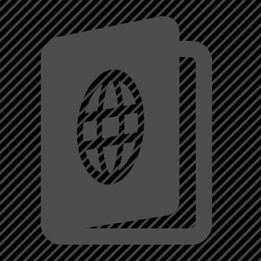 airport, document, pass, passport, travel icon
