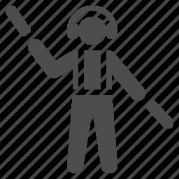 airport, control, man, marshall, runway icon