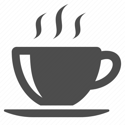 coffee, cup, hot, saucer, steam, tea icon
