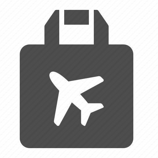 airport, bag, duty free, paper bag, shopping, tax free icon