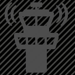 airport, control tower, radar icon