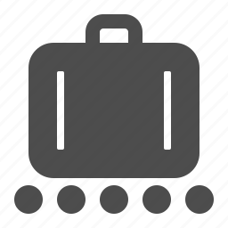 airport, baggage, briefcase, claim, conveyor belt, luggage, suitcase icon