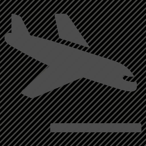 airplane, airport, crash, flight, landing, plane, runway icon