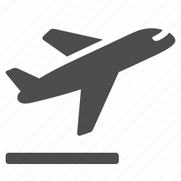airplane, airport, flying, plane, runway, taking off, transportation icon