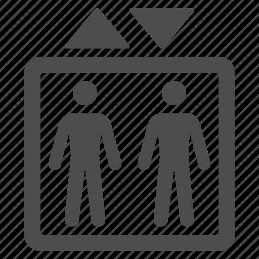 elevator, men, people icon