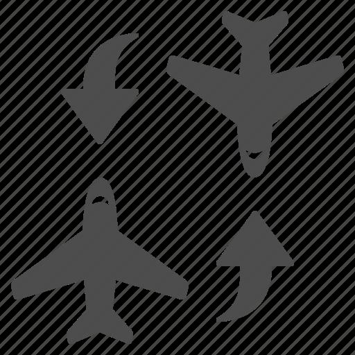 airplane, airport, change, flight, plane, planes, switch icon