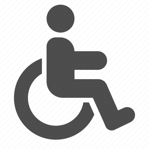 handicap, handicapped, man, sign, wheelchair icon