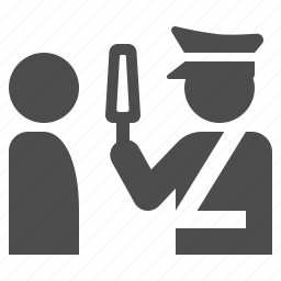 airport, check, guard, metal detector, officer, police, security icon