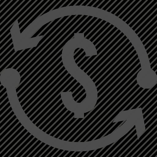 change, currency, exchange, money icon