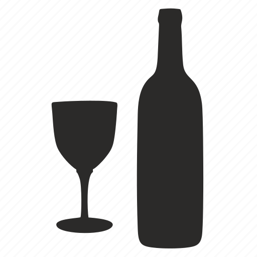 alcohol, bocal, bottle, drink, glass, wine icon