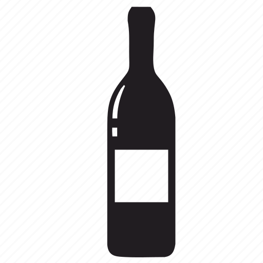 alcohol, bottle, drink, glass, label, wine icon