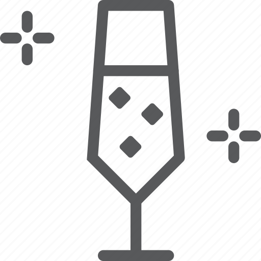 celebration, drink, fluid, glass, sparkling, white, wine icon