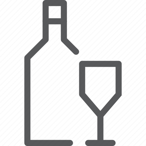 alcohol, beverage, bottle, drink, fluid, glass, serve, wine icon