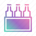 alcohol, beer, beer pack, beverage, bottle, box, pack icon