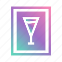 alcohol, bar, cocktail, drink, drinks menu, label, menu icon