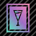 alcohol, bar, cocktail, drink, drinks menu, label, menu